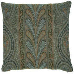 Schumacher Chatelaine Paisley Pillow in Jade