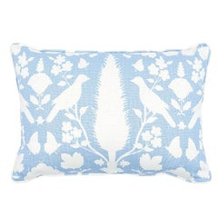 "Schumacher Chenonceau 20"" x 14"" Pillow in Sky"