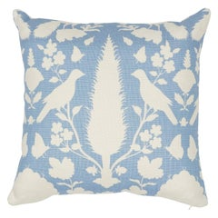 Schumacher Chenonceau Sky Linen Two-Sided Pillow