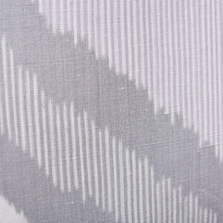 Schumacher Chevron Ikat Lilac Two-Sided Linen Pillow In New Condition For Sale In New York, NY