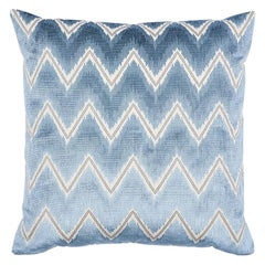 "Schumacher Chevron Velvet 18"" Pillow"