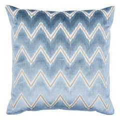 "Schumacher Chevron Velvet 22"" Pillow"