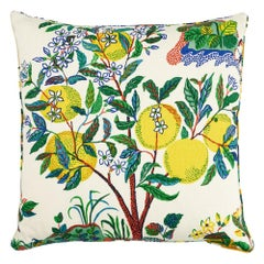 "Schumacher Citrus Garden 22"" Pillow"