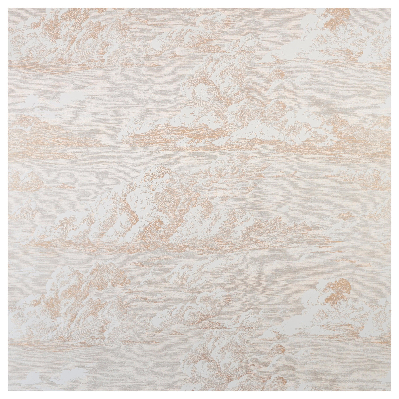 Schumacher Cloud Toile Wallpaper in Gold