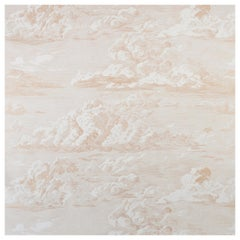 Schumacher Cloud Toile Wallpaper in Gold