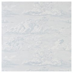 Schumacher Cloud Toile Wallpaper in Mineral