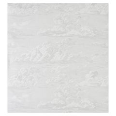 Schumacher Cloud Toile Wallpaper in Quartz