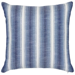 Schumacher Colada Stripe Blue Indoor/Outdoor Two-Sided Pillow