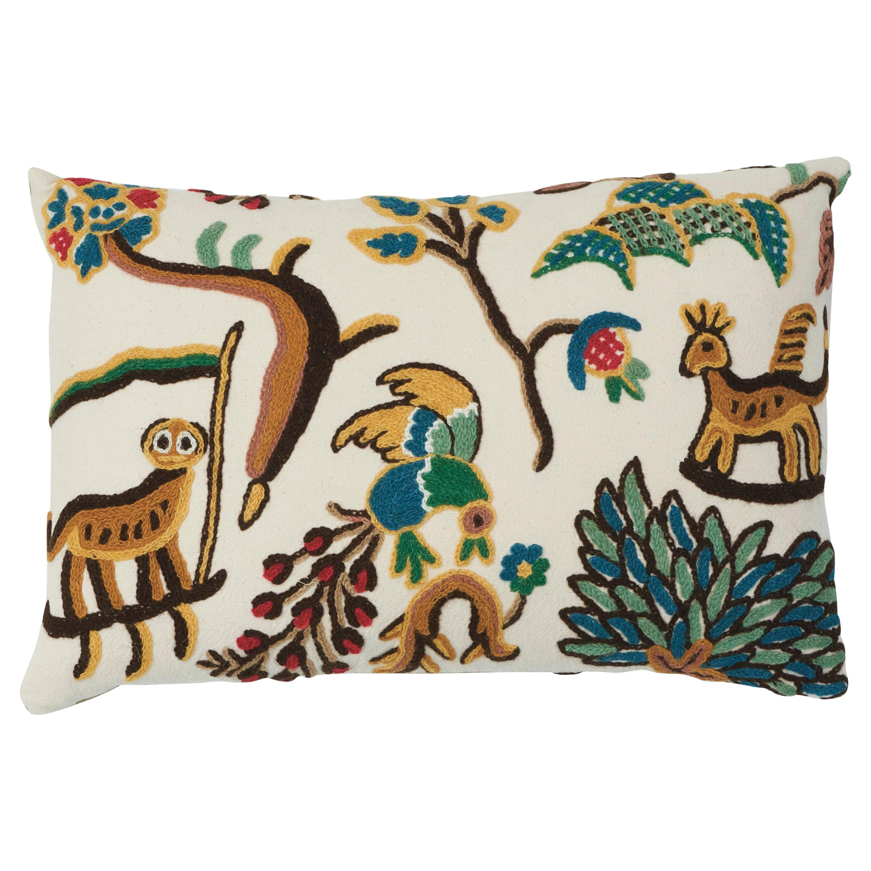 French Whimsical Zebra Pillows a Pair