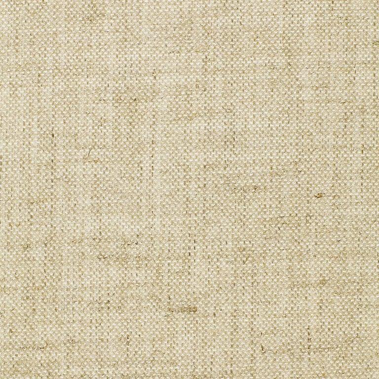 Contemporary Schumacher Copenhagen Walnut Sofa Upholstered in Sahara Weave Fabric For Sale