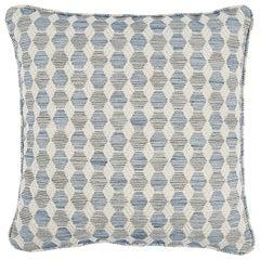"""Schumacher Coquina 18"""" Pillow in Blue"""
