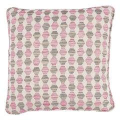 """Schumacher Coquina 18"""" Pillow in Pink"""