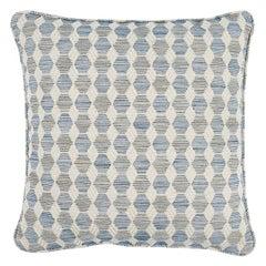 """Schumacher Coquina 20"""" Pillow in Blue"""