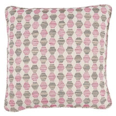 """Schumacher Coquina 20"""" Pillow in Pink"""