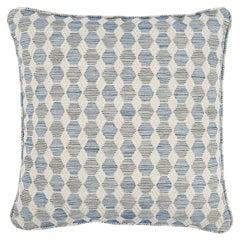 """Schumacher Coquina 22"""" Pillow in Blue"""