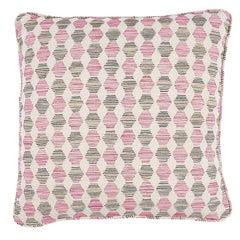 """Schumacher Coquina 22"""" Pillow in Pink"""