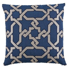 "Schumacher Cordoba Embroidery 22"" Pillow"
