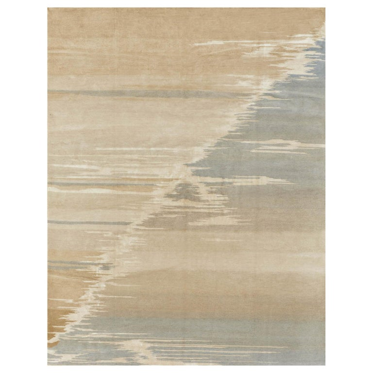 Schumacher Current Area Rug in Hand-Knotted Wool by Patterson Flynn Martin For Sale