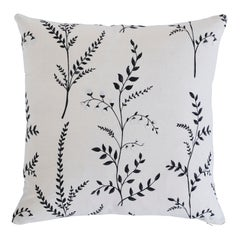 Schumacher Cynthia Embroidered Print Pillow in Black
