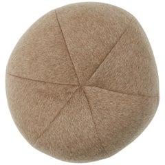 Schumacher Dixon Mohair Sphere Pillow in Driftwood