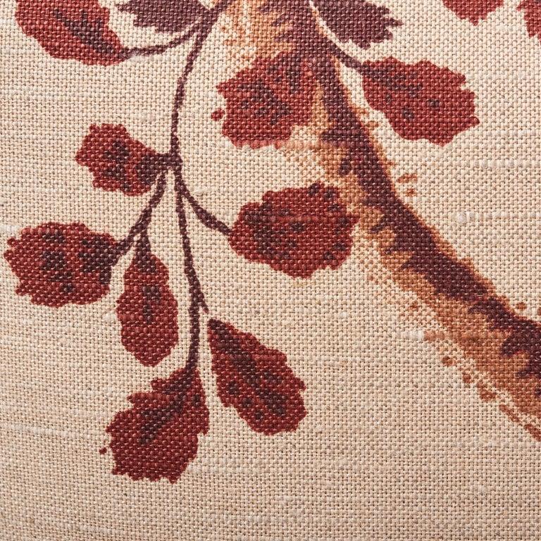 Schumacher Fox Hollow Document Natural Two-Sided Linen Cotton Pillow For Sale 1