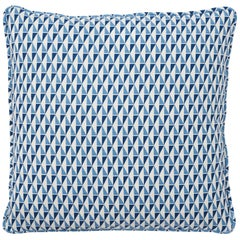 Schumacher Frank Lloyd Wright Design 107 Blue Two-Sided Linen Pillow
