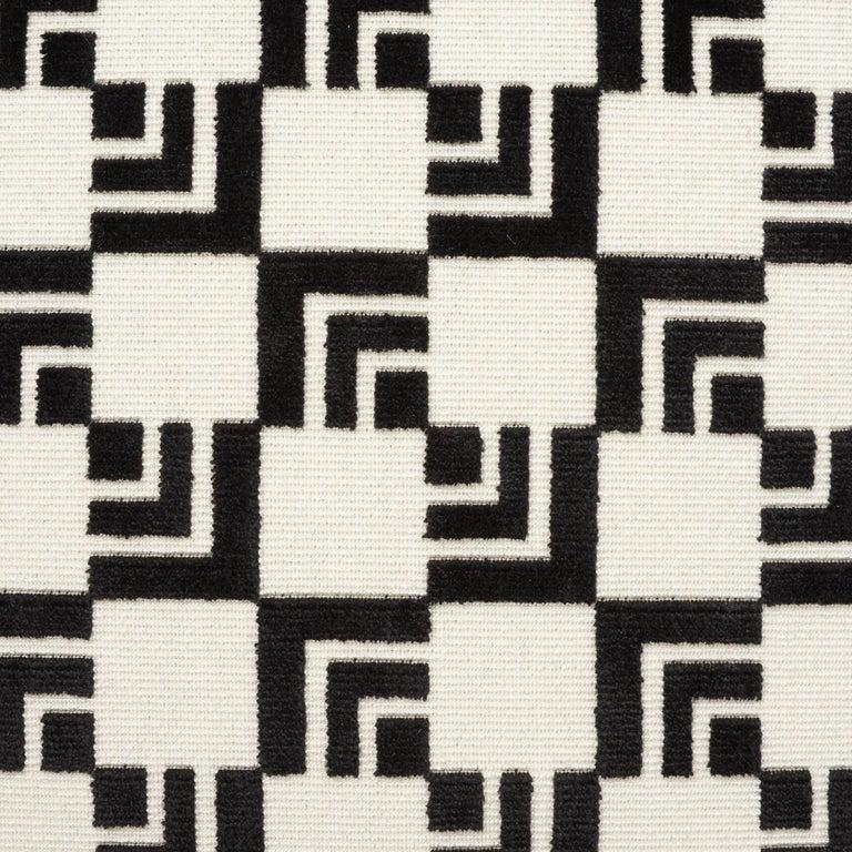 Mid-Century Modern Schumacher Frank Lloyd Wright Imperial Hotel Velvet Two-Sided 16