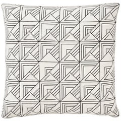 Schumacher Frank Lloyd Wright St Marks Black White Two-Sided Pillow
