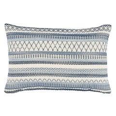 """Schumacher Fremont Indoor/Outdoor 20"""" Lumbar Pillow in Blue"""