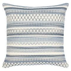 """Schumacher Fremont Indoor/Outdoor 20"""" Pillow in Blue"""