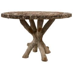 Schumacher French Concrete Garden Table with Pique Assiette Top