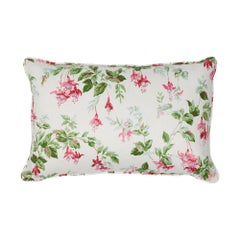 Schumacher Garden Gate Chintz Magenta Cotton Two-Sided Lumbar Pillow