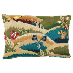 Schumacher Gerry Embroidery II Pillow in Document