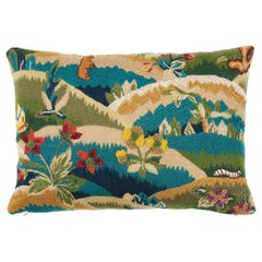 Schumacher Gerry Embroidery Pillow in Document