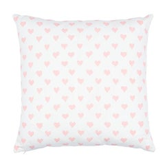 "Schumacher Hearts + Coffee Bean 18"" Pillow"