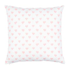 "Schumacher Hearts + Coffee Bean 20"" Pillow"