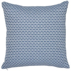 Schumacher Hickox Blue Indoor/Outdoor Two-Sided Pillow