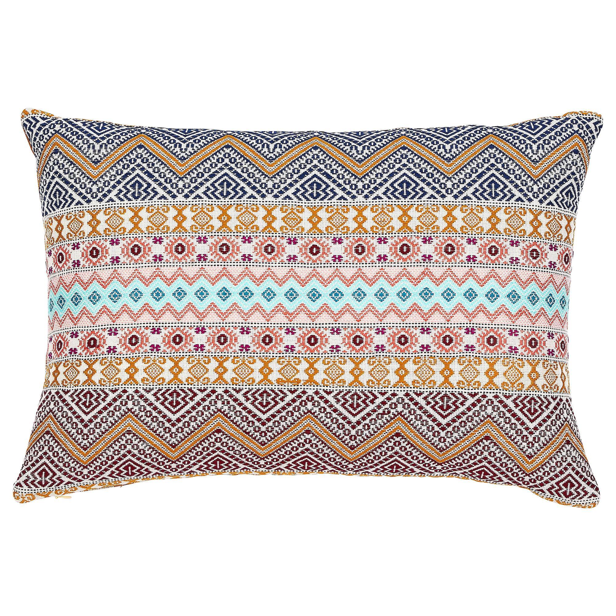 Schumacher Holmul & Panan Stripe Pillow in Autumn