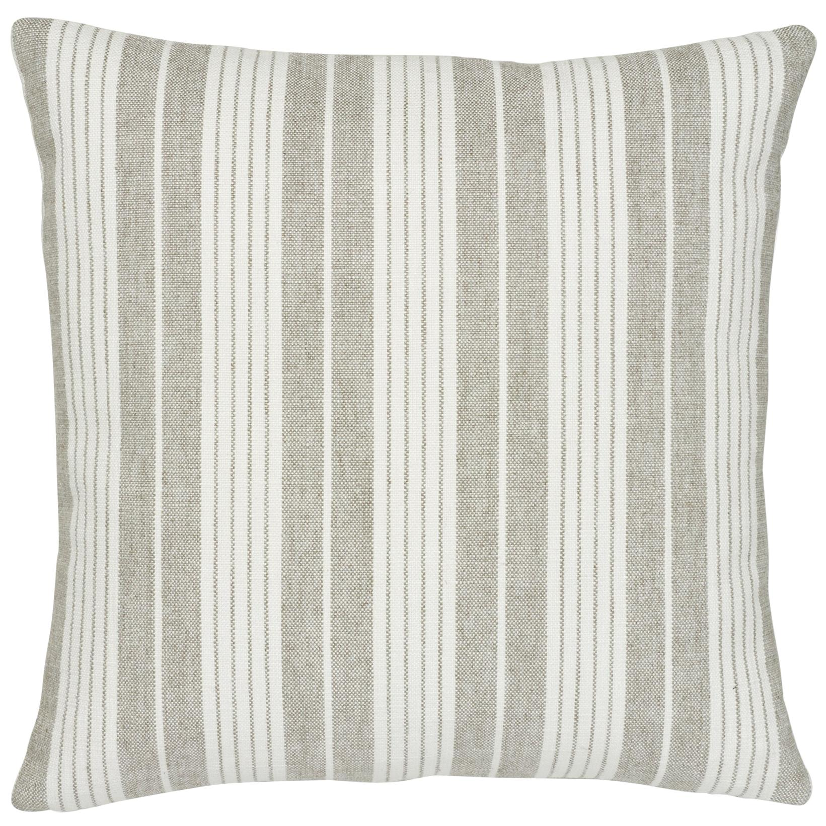 Schumacher Horst Stripe Grisaille Two-Sided Pillow
