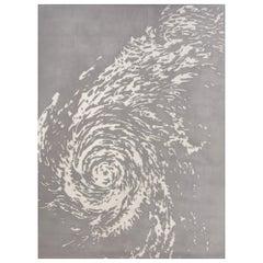 Schumacher Hurricane Haze Area Rug in Wool Silk, Patterson Flynn Martin