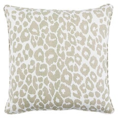 "Schumacher Iconic Leopard 18"" Pillow Two-Sided Linen Pillow"
