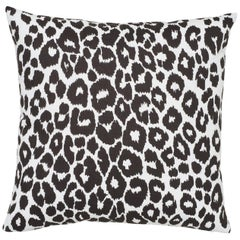 Schumacher Iconic Leopard Indoor/Outdoor Graphite Pillow