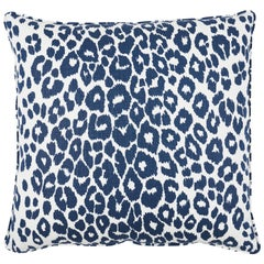 Schumacher Iconic Leopard Pillow in Ink