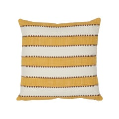 Schumacher Isolade Stripe Yellow Cotton Two-Sided Pillow