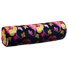 Schumacher Jennie Velvet Midnight Magenta Bolster Pillow