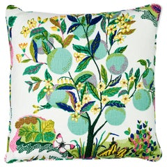 Schumacher Josef Frank Citrus Garden Lime Two-Sided Linen Pillow