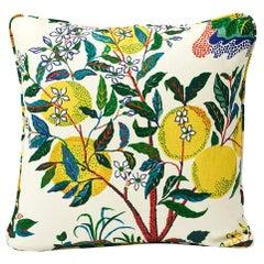 Schumacher Josef Frank Citrus Garden Primary Color Linen Two-Sided Pillow