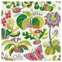 Schumacher Josef Frank Exotic Butterfly Multi-Color Wallpaper