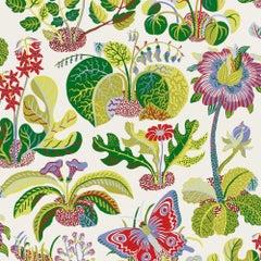 Schumacher Josef Frank Exotic Butterfly Mutli-Color Wallpaper