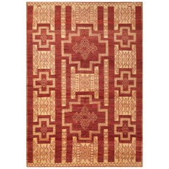 Schumacher Kamila Area Rug in Hand Knotted Wool Silk, Patterson Flynn Martin
